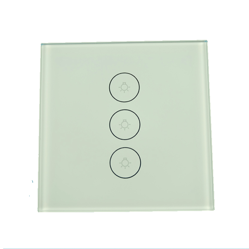 White Smart Switch 1/2/3 Gang Wifi Water Heater Boiler Switches For Alexa Google Home Voice Touch Panel Timer App Control