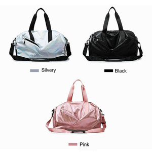 Image 3 - Gym Bags For Women With Shoe Compartment Sport Gym Bag With Wet Pocket New Femal Yoga Duffel Bags Outdoor Travel Luggage Bags