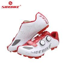 цена SIDEBIKE Breathable Mountain Bike Shoes Men Self-lock MTB Bicycle Cycling Road Shoes Anti-slip Wear-resisting Cycle Sneakers онлайн в 2017 году