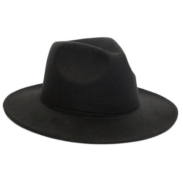 LUCKYLIANJI Retro HQ fieltro de lana niño niños Color sólido Panamá Fedora  sombrero Vintage gángster Cap 621c1359753