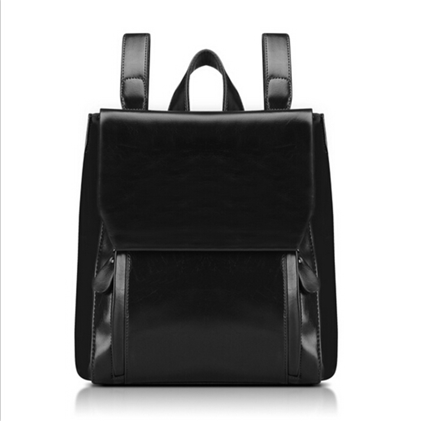 2017 New Women Patent Leather Backpacks Bolsas Mochila Feminina Girls Schoolbag Book Shoulder Bag Sac A Dos Black Brown Red Big new women leather backpack black bolsas mochila feminina girl schoolbag travel bag solid candy color green pink beige