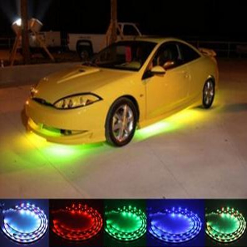 60cm DIY SMD 2835 3528 1210 motorcycle led casing angle eyes light Automobile car decorative waterproof article flexible tape