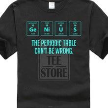 502215af1 Round Neckline Thin Loose Loose Plus Size Genius Periodic Table Funny Joke  Science Pun T Shirt