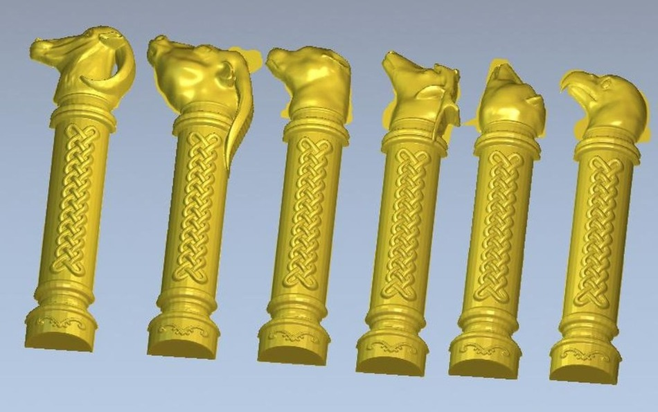 3d model relief  for cnc in STL file format skewer panno hunting 2 for cnc in stl file format 3d model relief