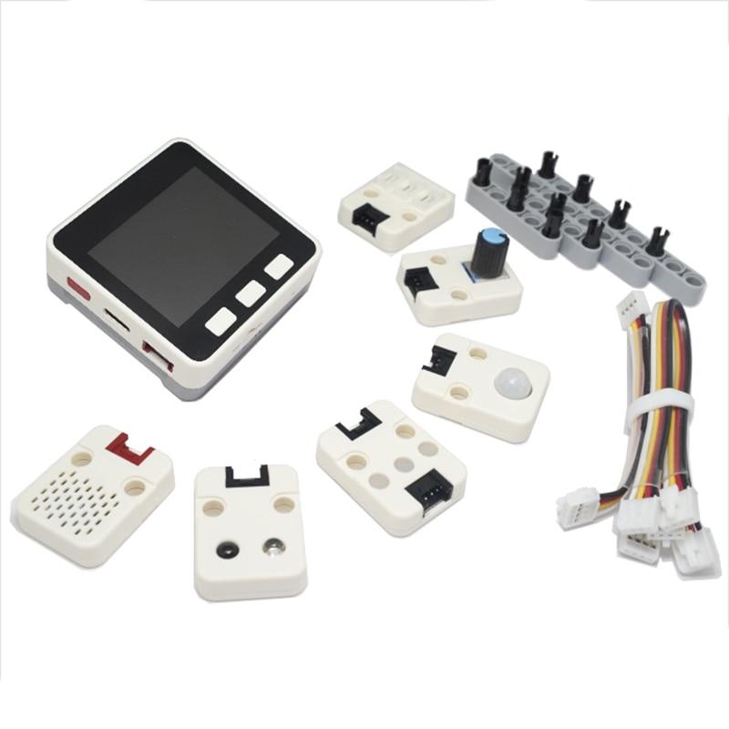 M5Go Iot Starter Kit Esp32 For Arduino/Micropython Programming Development Ir Mic 600Mah Battery