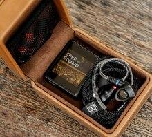 شانلينغ C2 اليدوية مخصص بو صندوق تخزين جلدي لسماعات الأذن المحمولة صندوق الضغط لمشغل صغير M0