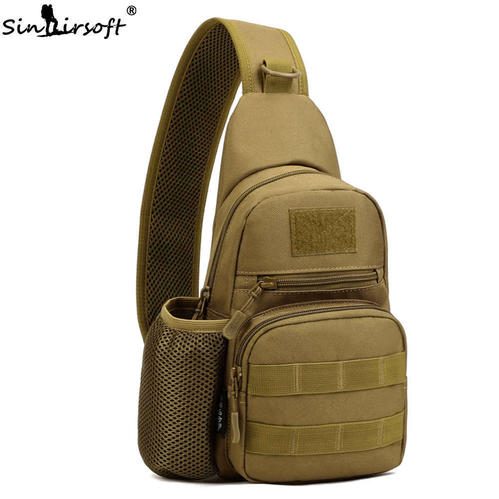 Tactical Fishing Army Bag Men Sling Chest Message Bags Men One Single Shoulder Waterproof Sport Ride Crossbody Travel Backpack