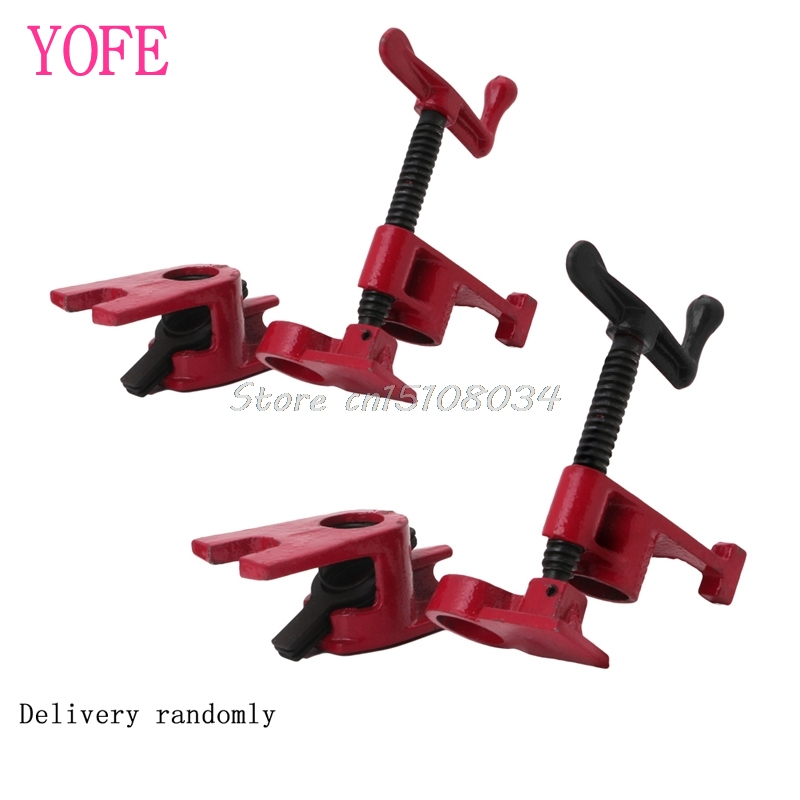 3/4 Inch Wood Gluing Pipe Clamp Set Heavy Duty Profesional Woodworking Cast #S018Y# High Quality