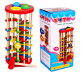 New baby Wooden toys Knock ball the ladder  noise maker  Educational toys for children  Free shipping