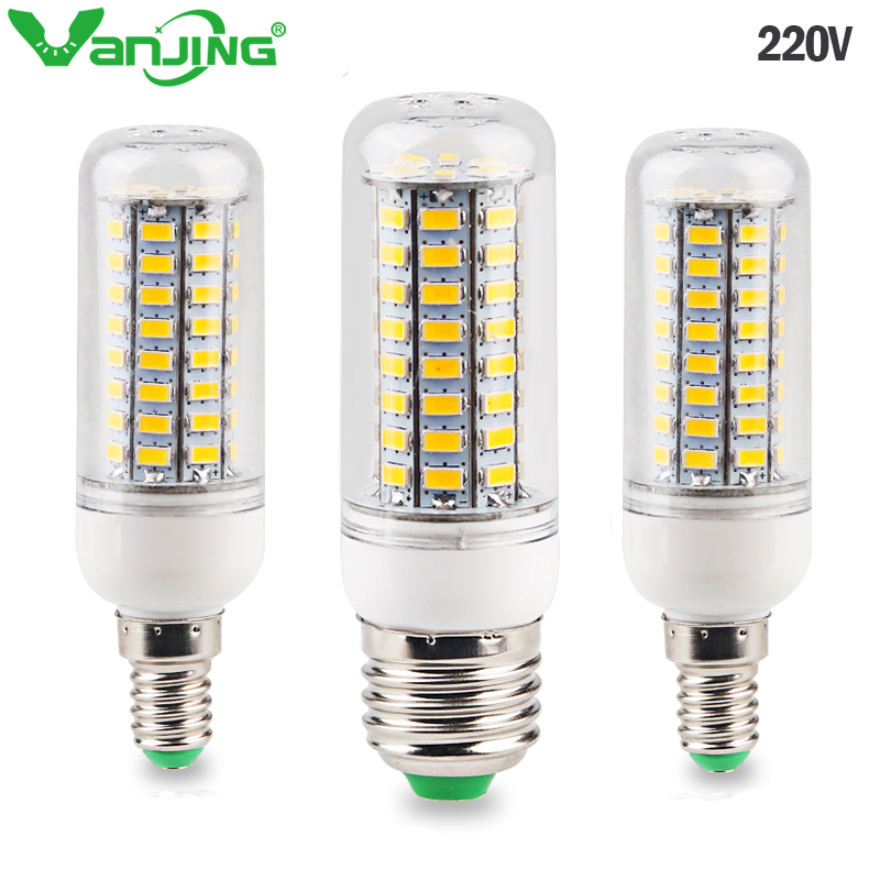 E27 E14 LED Corn Lamp 220-240V SMD 5730 LED Light 24 48 69 72 LEDs Corn Bulb Chandelier for Home Lighting LED Bulb