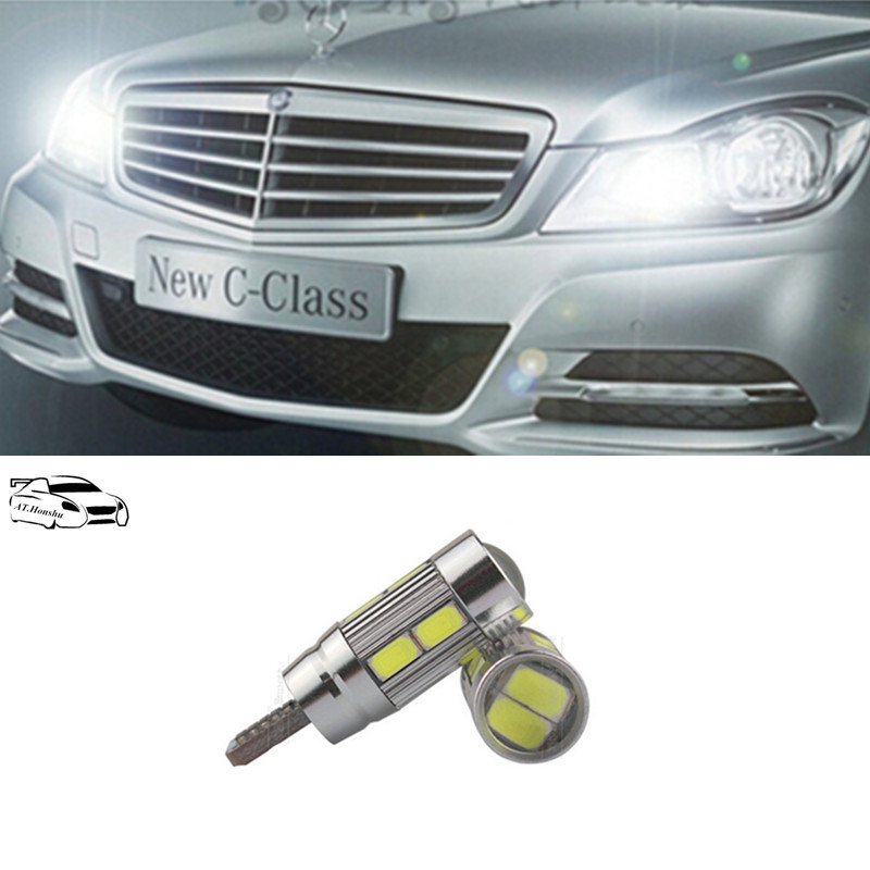 No Error 5630SMD T10 196 168 <font><b>Led</b></font> Auto Side Wedge Parking bulbs Lamp For Benz <font><b>w202</b></font> w220 w204 w203 w210 w124 w211 w222 x204 w164 image