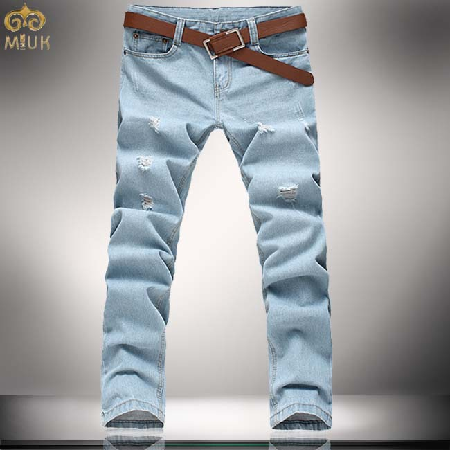 Large Size Men Jeans 42 44 Hole Designer Mens Jeans Slim Cotton ...