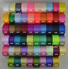 Новое поступление-2′ (50 мм) одно лицо атласная лента 25 двор/roll 75 двор/lot смешать 3 вида цветов ремня Упаковка подарков Свадебные украшения