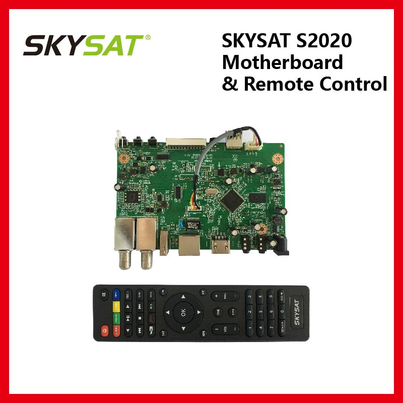 Skysat S2020 Motherboard With Remote Control For Brazil Peru Ecuador Chile Reliable Performance