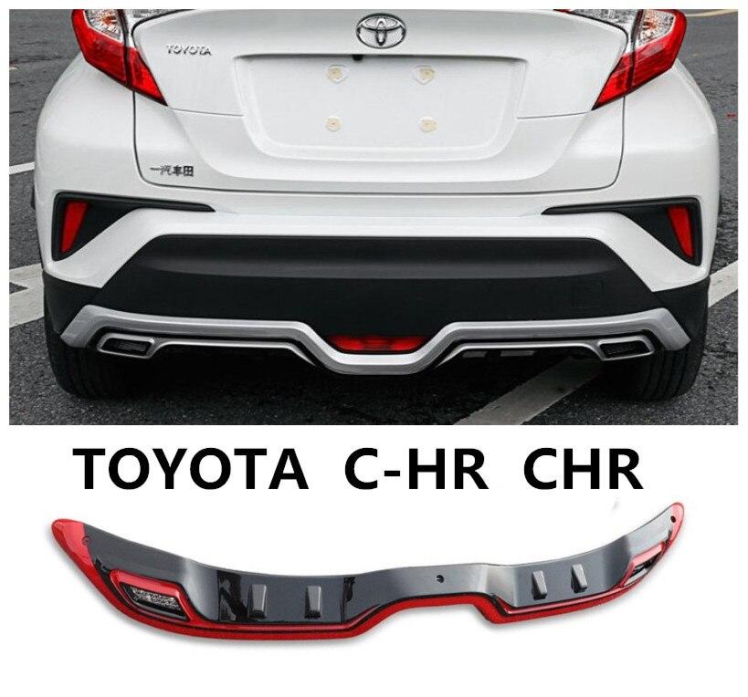 Per TOYOTA C-HR CHR 2016 2017 2018 2019 PARAURTI Posteriore Diffusore Protecto Skid Piastra di Alta Qualità ABS Accessori Auto