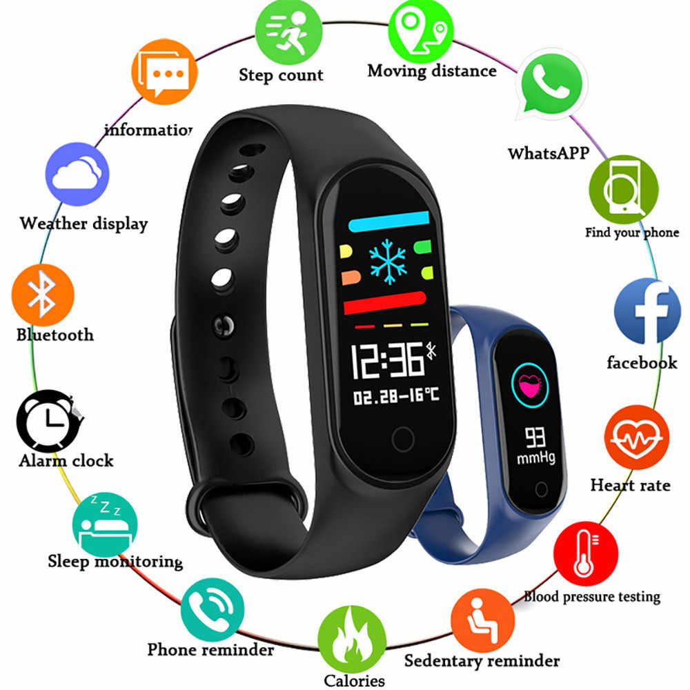M4 Smart Watch Bracelet Band Fitness Tracker Color Screen Waterproof Sport Wristband M3 Bracelet Bluetooth For iPhone Xiaomi