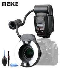 Meike MK 14EXT LED TTL makro pierścień Flash Lite na stronie I TTL lampa pomocnicza dla Nikon D7100 D7000 D5000 D5100 D3200 D3100 D3000 D800 D700
