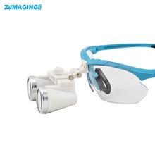 2017 Dental equipment Surgical Medical dental Loupes dental glasses 3.5X 420mm +LED Head Light Lamp Silver dental lab Loupes