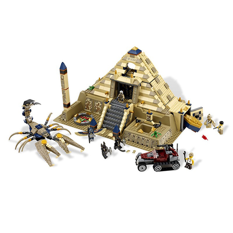 Egypt Pharaoh Series The Scorpion Pyramid 822Pcs Children Sets Educational Building Blocks Bricks Toys Model Gifts 7327 the red pyramid