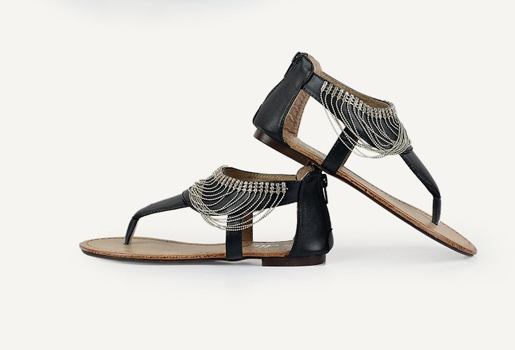sandale plate strass femme. Black Bedroom Furniture Sets. Home Design Ideas