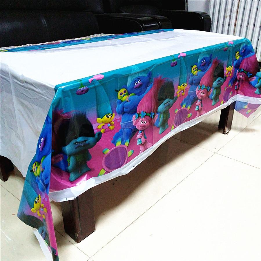 108cm*180cm Trolls Party Supplies Table Cloth Favors Kids Boy Birthday Party Festival Decoration Trolls Birthday Party Themes