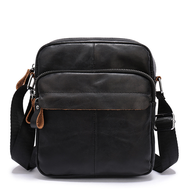 2018 Fashion Brand Design Men Messenger Bags Genuine Leather Business Cow Leather Small Shoulder Bags Mens Crossbody Bag