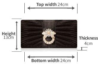 Aba Bolsa Capa de Diamantes Brilhantes 2