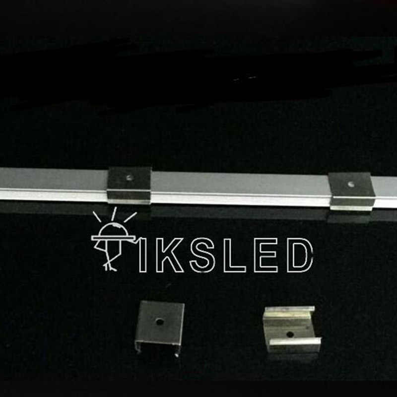 100 sztuk metalowe klipsy używać do przechowywania sztywny pasek profil led sztywny pasek akcesoria klipy używać do aluminium U, V aluminium