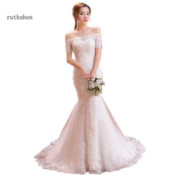 ruthshen Vintage Lace Mermaid Wedding Dresses With Sleeves 2019 Robe De Mariee Off The Shoulder Bridal Gowns From China - DISCOUNT ITEM  11% OFF All Category