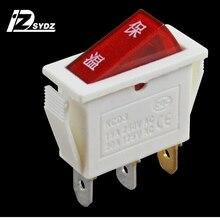 KCD3 белый Сохранение тепла Лодка тип переключатель; кулисный переключатель 25x20 мм 15A250V Лодка тип переключатель еда пароход переключатель