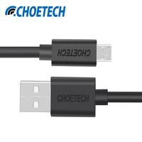 [2-Pack]Micro USB Cable for Xiaomi CHOETECH 5V 2.4A Micro USB 2.0 Fast Charger Data Cable 3.3ft/1M for Huawei Mobile Phone Cable