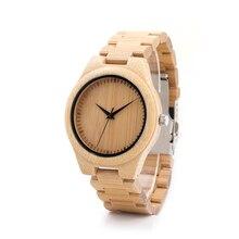 БОБО ПТИЦА Бамбук Марка Мужчины Часы Деревянные Часы Relojes Мужской Наручные Часы Дерево Ремешок с Розничной Коробке Подарка G28