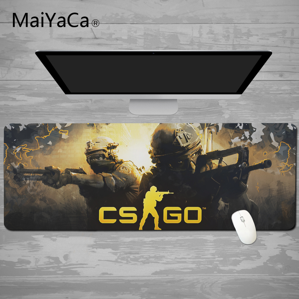 MaiYaCa 2018 New Simple Design Speed CS GO Game MousePads Computer Gaming Mouse Pad Gamer font