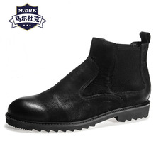 mens short boots retro British high top shoes Chelsea boots real leather Riding boots autumn winter men shoes all-match cowhide new autumn winter british retro high male boots leather cowhide cashmere zipper leather shoes breathable fashion boots men