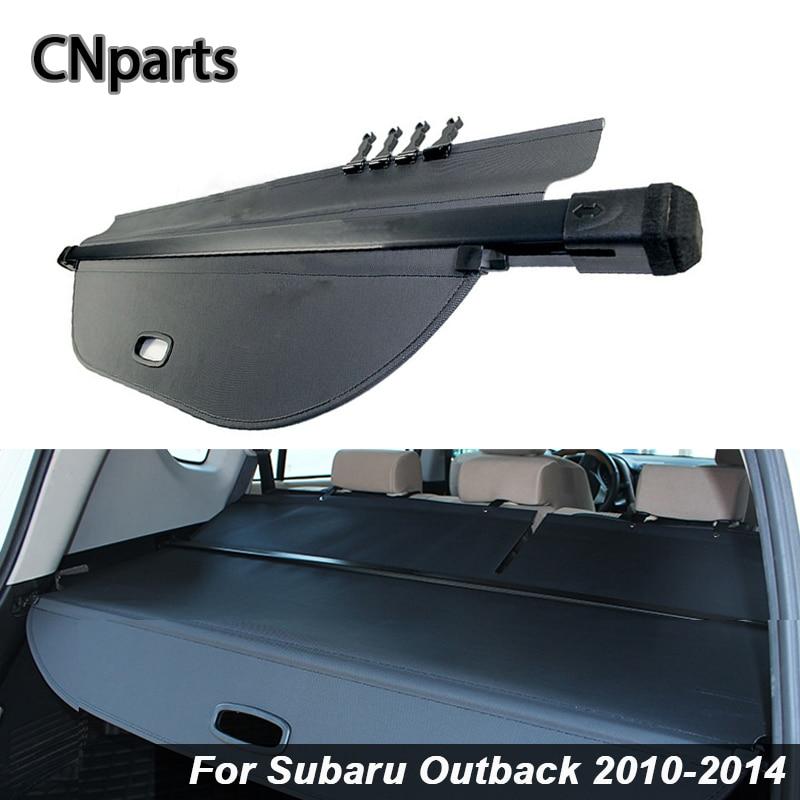 Couvercle de coffre arrière de voiture CNparts pour Subaru Outback 2010-2014, protection de sécurité noire, protection de voiture, accessoires Auto