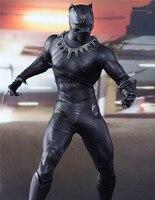 Marvel Original 1:6 Avengers Infinity War Super Hero Black Panther BJD Action Figure PVC Toy Brinquedos 30cm