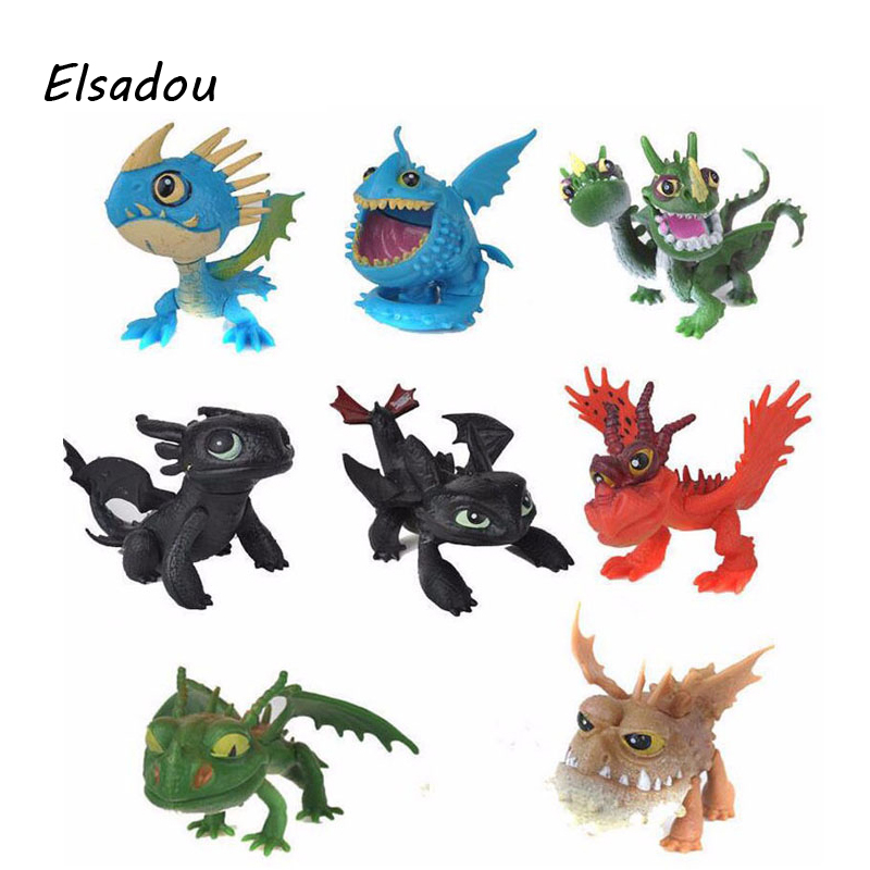 Elsadou 8pcs/set How To Train Your Dragon 2 Toys Action Figures Brinquedos Kids Toys Juguetes 12pcs set children kids toys gift mini figures toys little pet animal cat dog lps action figures