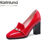 KARINLUNA New Large Size 31 50 Customized Crystals Women Shoes Woman Fashion High Heels Date Elegant