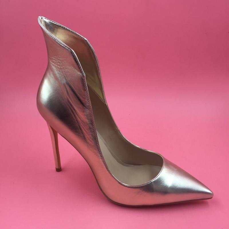 Light Gold Women Pumps Pointed Toe Slip-On High Heel Big Size 12 Heels Shoes Woman Chaussure Femme Sapatos Femininos De Salto women shoes pumps sexy high heels scarpe donna tacco alto sexy mujer chaussure sapatos femininos de salto schuhe damen zapatos