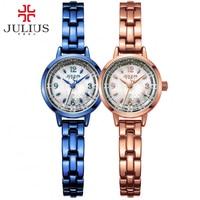 2017 New Julius Brand Fashion Japanese Quartz Movt Designer Watches Woman Clock Gold Ladies Bracelet Dress Reloj Mujer JA 865