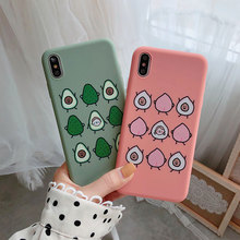 VR VAVA Soft TPU Cases Summer Fruit Phone Cover For iPhone 7 8 Plus X XS XR Xs Max 6 Cute Peach Matte Case
