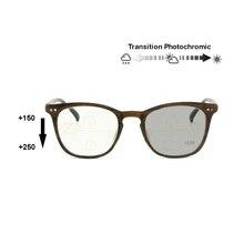 Переход фотохромные прогрессивные мульти фокус очки для чтения Ретро Nerd Варифокальные без линии постепенная дальнозоркая UV400 Солнцезащитные очки