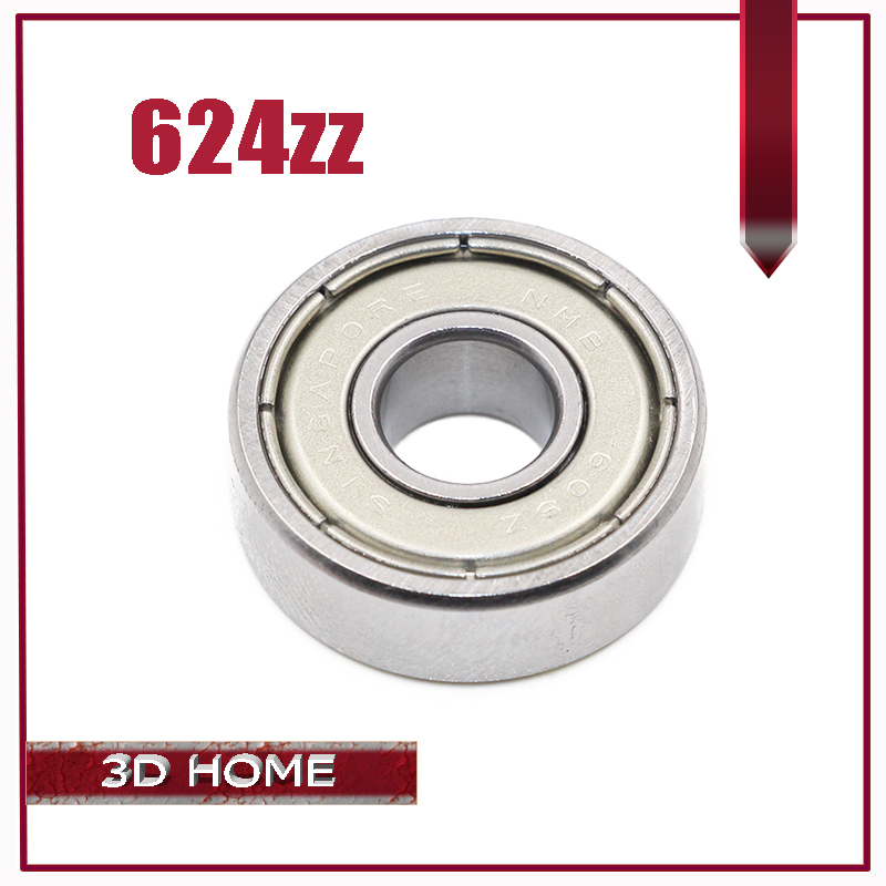 Free Shipping 10PCS/LOT 624 624Z 624ZZ Ball Bearing 4*13*5 Mm Chrome Steel Bearing For 3D Printer