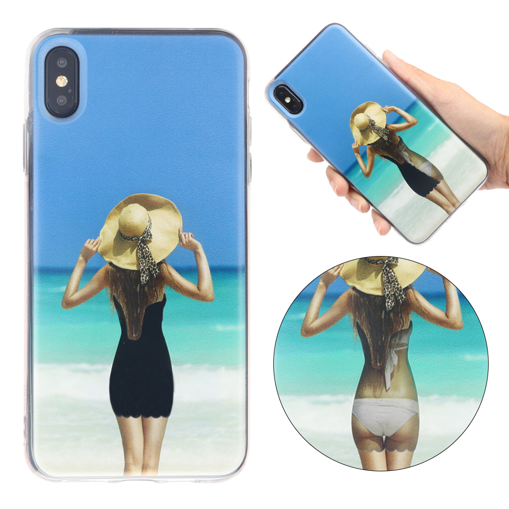 Fashion Bikini Glitter Liquid Sand Quicksand Case for iphone XS Max XR XS X 8 7 Plus Clear Sexy girl Hard Cover for iphone XR in Fitted Cases from Cellphones Telecommunications