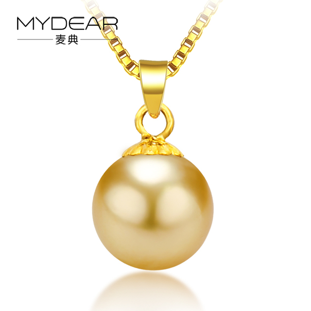 single sea pendant yellow pearl cultured necklaces p golden gold m in south
