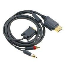 Conector de Cable HD VGA AV con salida óptica para Xbox 360, para xbox360