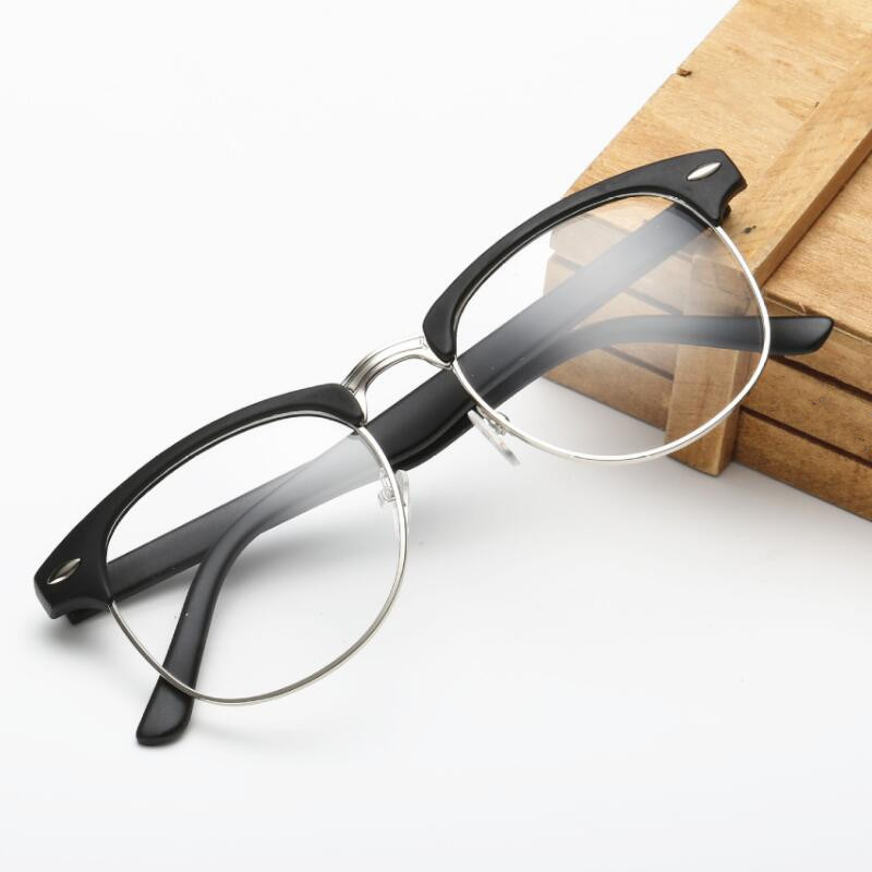 2018 Hot Fashion Retro Half-frame Glasses Frame Men Women Optical Glasses With Clear Glass Transparent Computer Glasses Frame