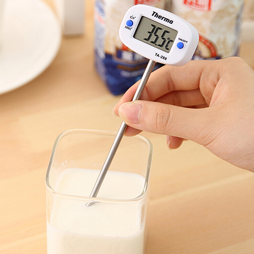 Instant Digital LCD Food Thermometer – BBQ/Meat/Chocolate/Baking