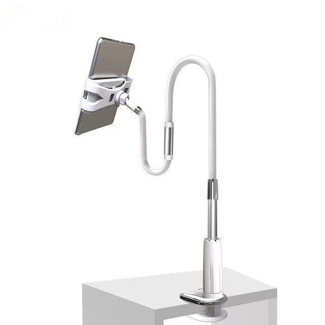 YNMIWEI حامل الهاتف المحمول 130 سنتيمتر طويل الذراع السرير/سطح المكتب كليب قوس لباد مكتب اللوحي تقف دعم
