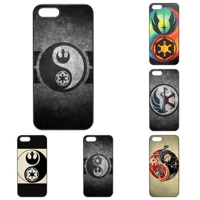 Star Wars Yin Yang Logo Wallpaper Hard Black Phone Coque Cases For Apple IPhone X 4